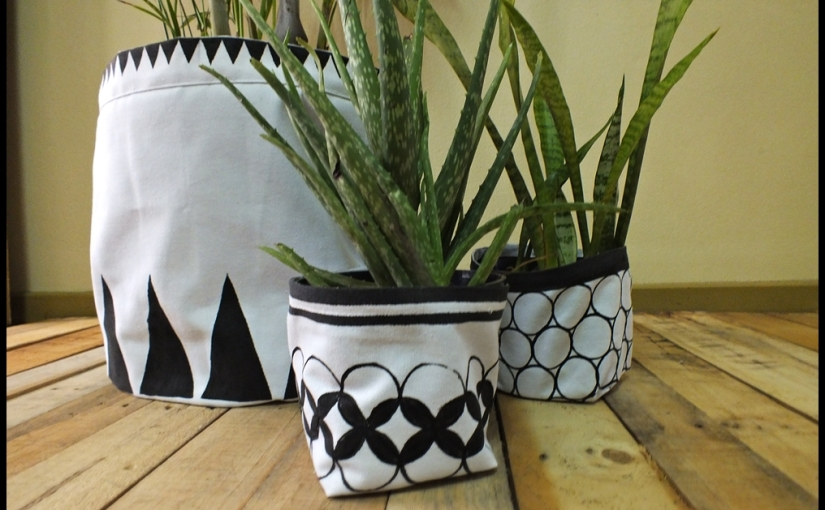 The One About the Handblock Fabric Planters